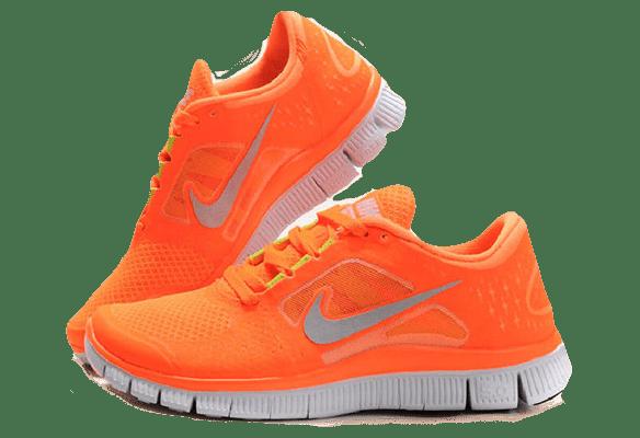 Кроссовки Nike Free Run 3.0 оранжевые в