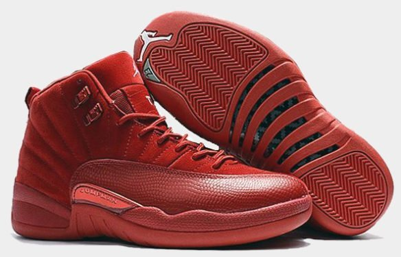 Фото Air Jordan 12 Retro Red Suede красные - 2