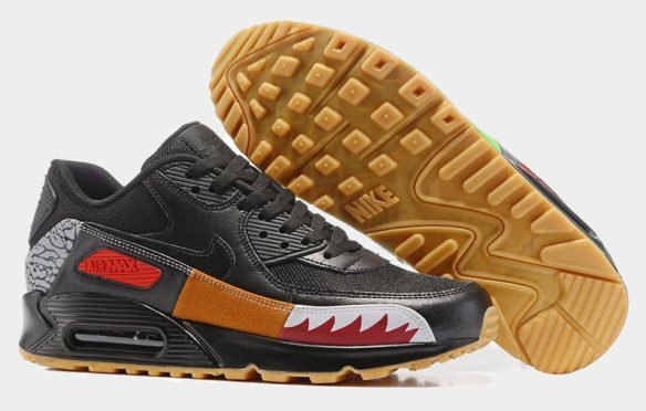 Фото Nike Air Max 90 (Atmos Safari Black) черные - 2